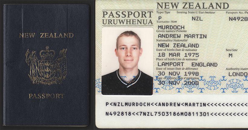 New Zealand International Passport 1998 2008