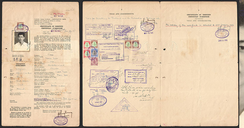 Federation Of Malaya Certificate Of Identity In Lieu Of Passport