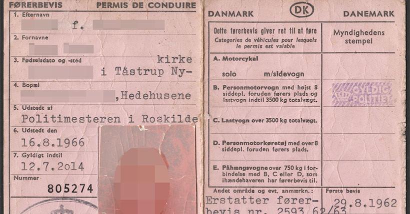 Kingdom of Denmark : Driving License (1966 — 2014)