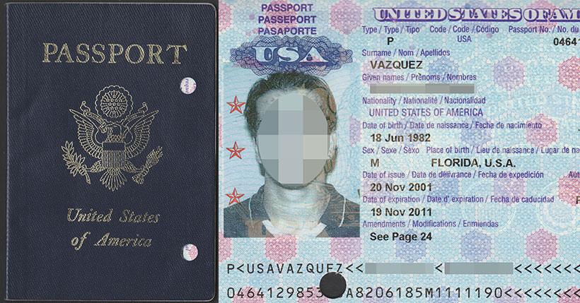 United States Of America Regular Passport 2001 2011 10 Year Validity