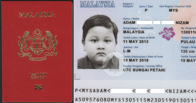 malaysia   international passport  u2014 model k  u2014 icao