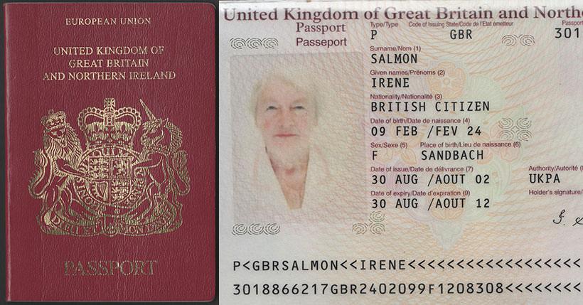 british passport   united kingdom of great britain  u0026 northern ireland  u2014 series 20 type 2  2002