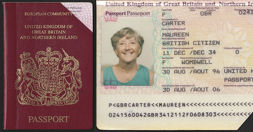 British Passport United Kingdom Of Great Britain